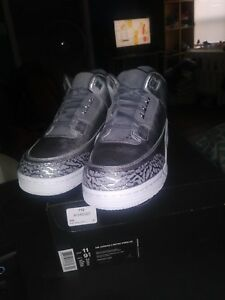 Air Jordan 3 III Retro Premium HC DS Metallic Silver Cool Grey Mens Size 9.5y