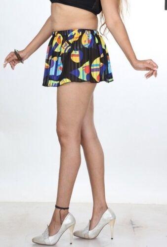Sheer Black Mini Skirt Printed See through Short Micro Girls High Waist 010