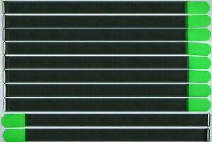 10 Velcro Serre-câbles 800 X 50 Mm Vert Fluo Fk Kabelklettband Câble Velcro Velcro-afficher Le Titre D'origine