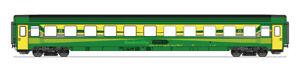 Roco-H0-74334-Eurofima-Wagen-2-Klasse-der-Raaberbahn-GYSEV-1-87-NEU-OVP