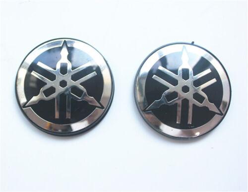 quality Yamaha Logo Sticker Tuning Fork 5cm round stickers Decal Black