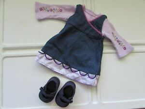 Retired-American-Girl-Today-2001-Denim-Jumper-Outfit-Pieces