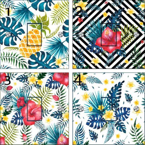 Tropical Botanical Standard Light Switch Stickers UK