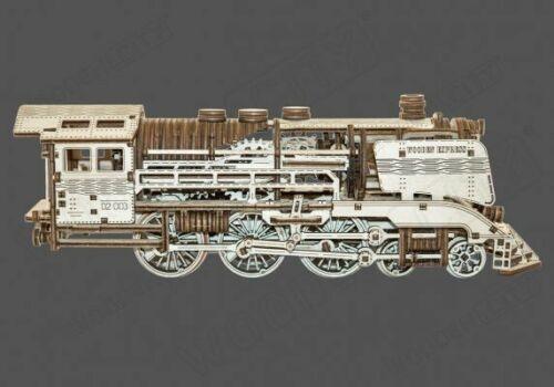Locomotive express écologique en bois avec rails 384 pièces