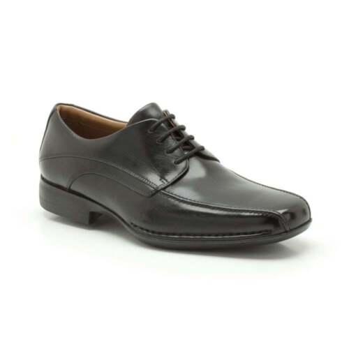 y Zapatos Air de Fit para cordones con negro elegantes Francis Clarks hombre cuero Wide ligeros qxqnzXTrw