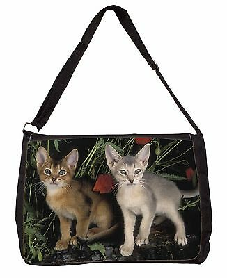 d139a55e8fb6 Abyssinian Cats by Poppies Large Black Laptop Shoulder Bag School/Colle,  AC-42SB 5053753794912 | eBay