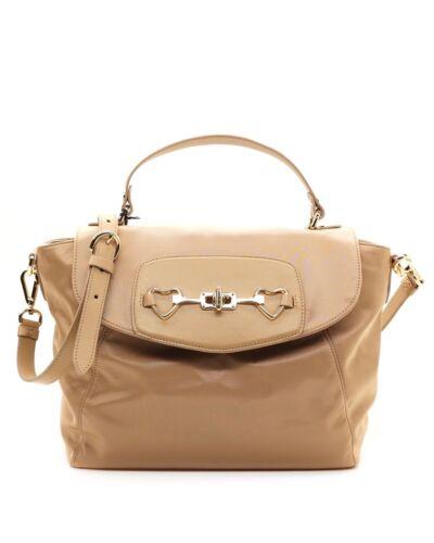 Moschino Love Shoulder Bag Satchel Beige Nylon New