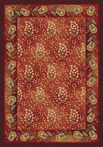 Milliken Top 30 Paisley Passion Indian Berry Area Rug