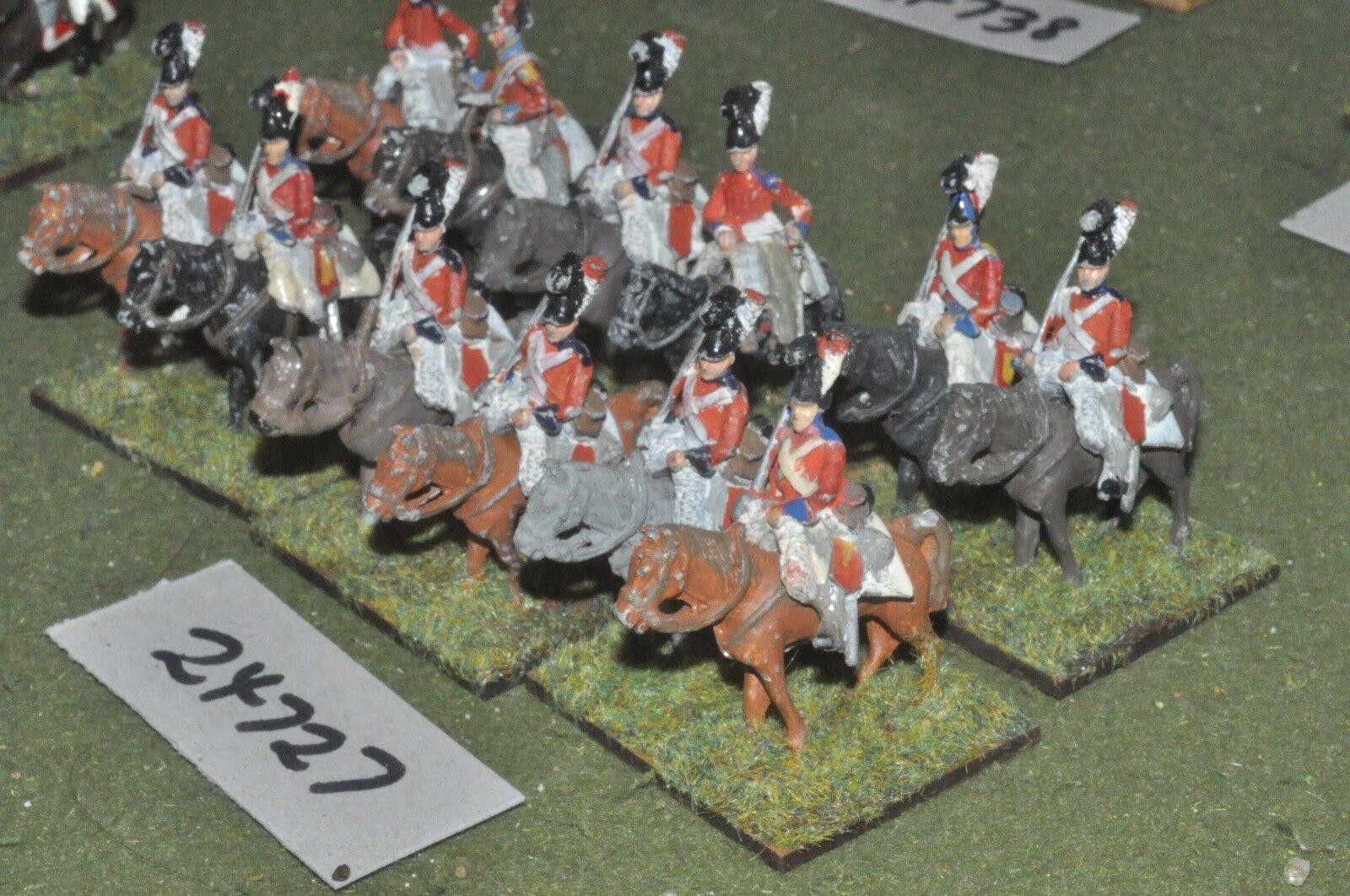 25mm napoleonic   british - dragoons 12 figures - cav (24727)