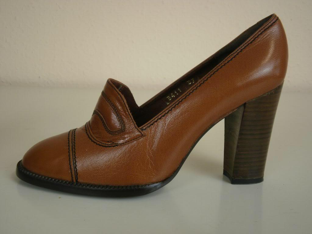 Prinex Pumps Damenschuhe Schuhe Halbschuhe Blockabsatz Blockabsatz Blockabsatz 70er True Vintage 70s a3a938