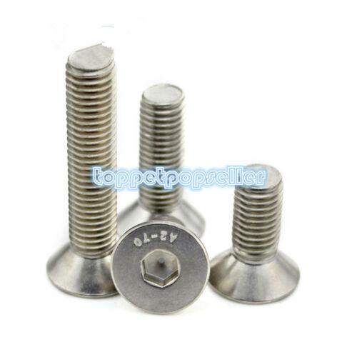 "2-40Pcs 1//4/"" BSW Flat Head Socket Cap Screw Allen Key Bolts A2-70 304SS"