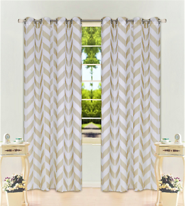 Striped white sheer panel curtains opinion