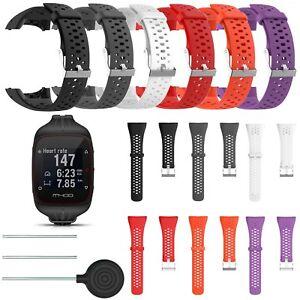 Silicona-relojes-de-pulsera-brazalete-Strap-para-polar-m400-m430-GPS-Sport-Smart-Watch-reloj