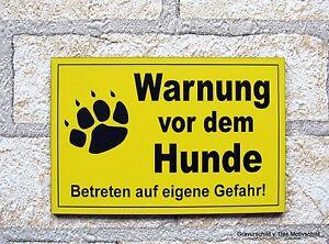Außen- & Türdekoration Warnung Vor Dem Hunde,gravur,hundeschild,warnschild,hund,schild,12 X 8 Cm,neu Dekoration