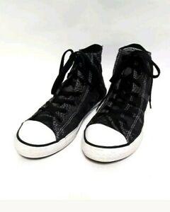 36560c5b167e5b Converse All Star Chuck Taylor Kids High Tops Shoes Junior Size 6 ...