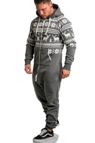Herren Overall Jumpsuit Onesie Sportanzug Trainingsanzug Jogginganzug 3003
