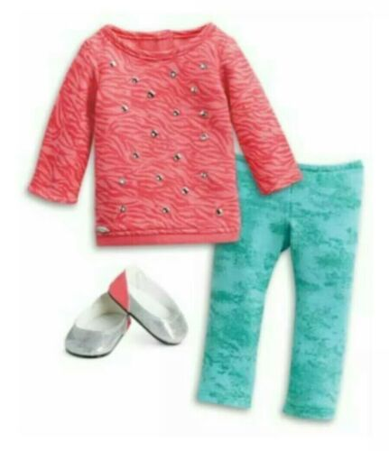 """American Girl Doll Clothes TRULY ME Cool Coral Outfit Set for 18/"""" Dolls NEW"""