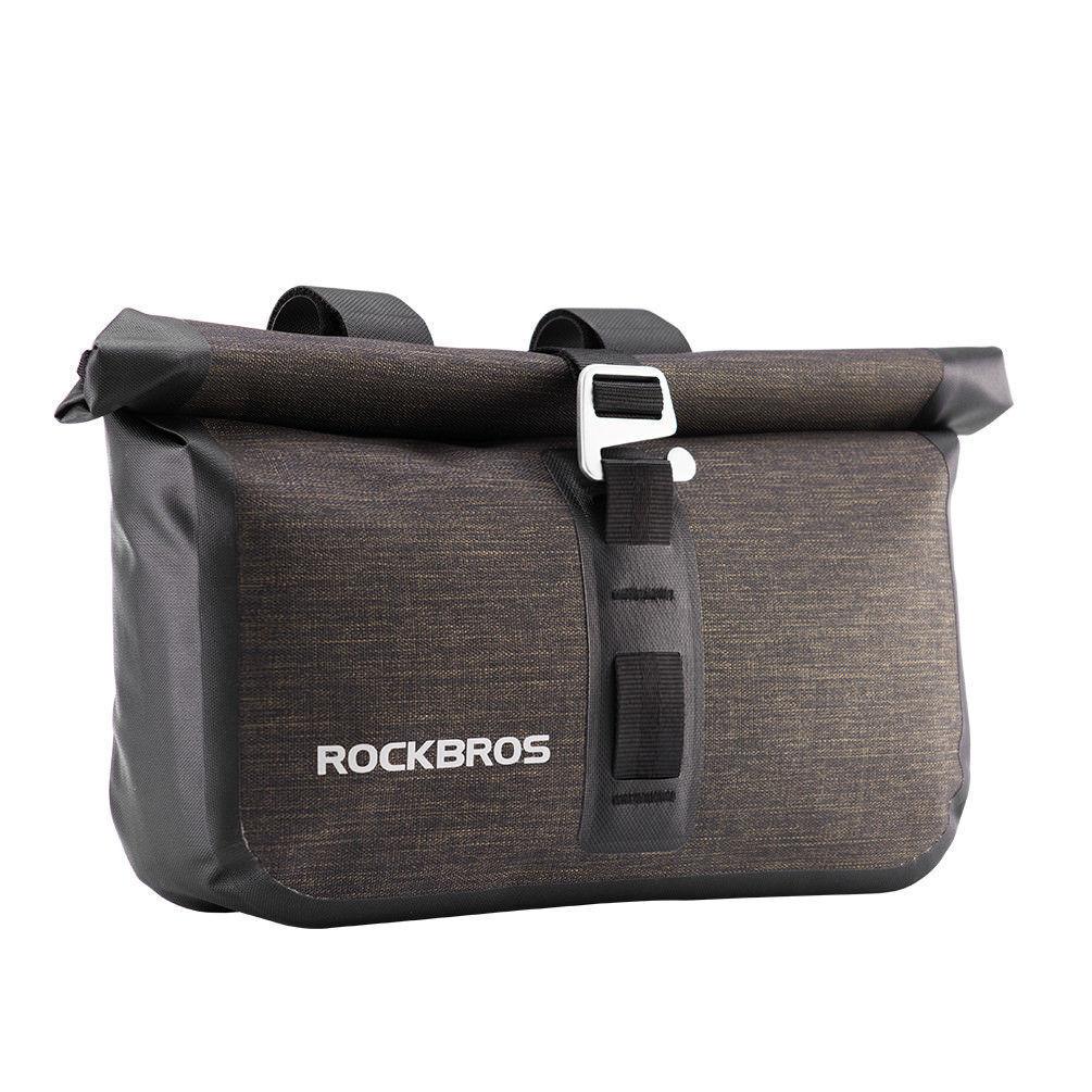 12ed2bbee012 RockBros Waterproof Handlebar Front Bag Bikebag Black Gold Large Capacity  4-5l