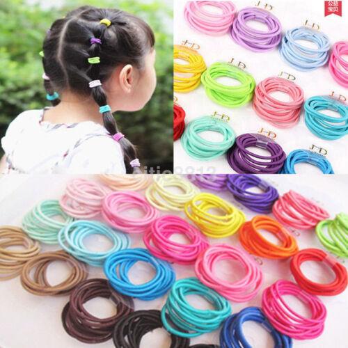100pcs Elastic Rope Women Vogue Hair Ties Ponytail Holder Head Band Hairbands