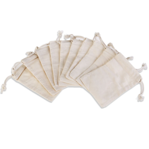 Details About Nuolux Cotton Muslin Bags Mini Drawstring Gift Wedding Favor Jewellery