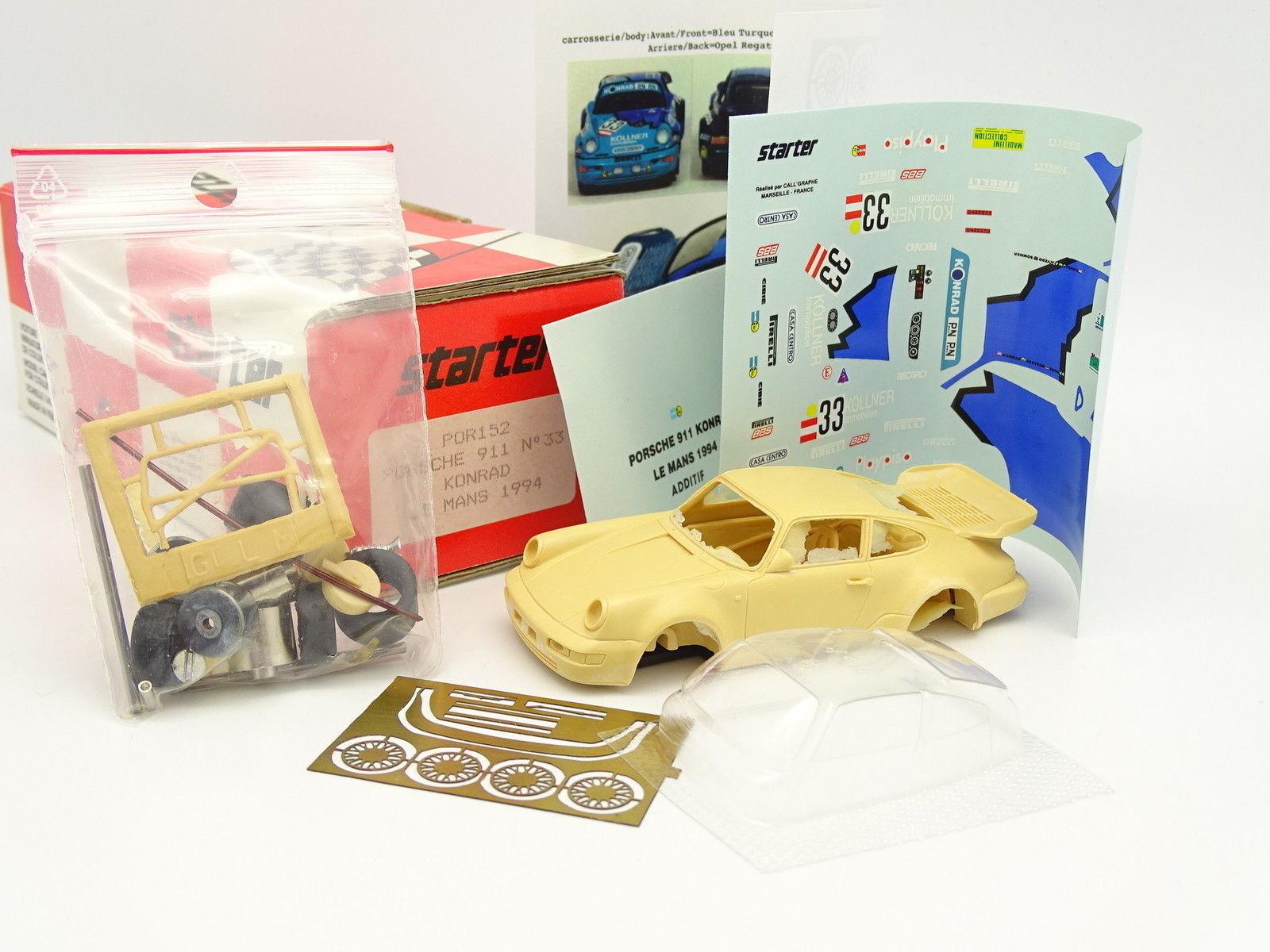 Kit de inicio para montar 1   43 - porsche 911 konrad n º 33 le - mans - 1994