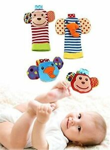 4PCS-Baby-Wrist-Rattle-and-Foot-Rattles-Finder-Socks-Set-Developmental-Fun-Toy