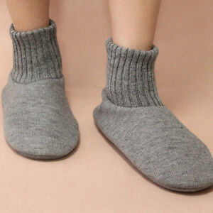 Men-039-s-Indoor-Slippers-Fleece-Lined-Knitted-Non-Skid-Floor-Socks-Boots-Home-Shoes