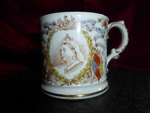 Antique-QUEEN-VICTORIA-Diamond-Jubilee-1897-HARRODS-Cup-ROYAL-WARE-Memorabilia