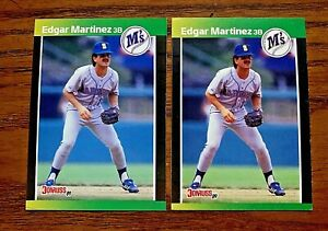 1989 Donruss Edgar Martinez RC - Mariners (2)