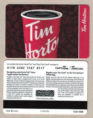 Tim Hortons 2020 Red Coffee Cup Gift Card FD68982   eBay