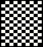 Checkers Area Rug 2'x 3'8 (60x110cm) Black Off-white