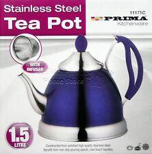 1.5L INDUCTION StainlessSteel Tea Pot Kettle Camping Mint Tea Cordless 71 PURPLE