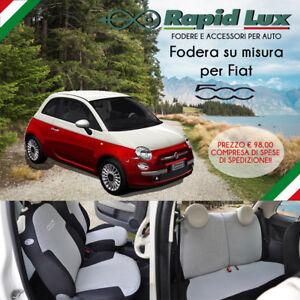 Dettagli Su Fodere Coprisedili Su Misura Per Fiat 500 Con Sedile Posteriore Intero