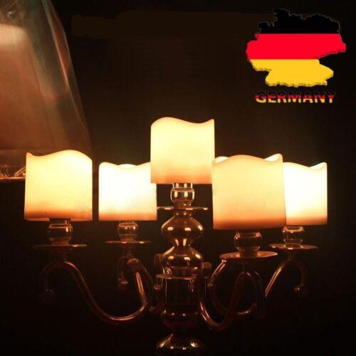 24 LED Teelichter Kerze Teelicht Flammenlos Elektrisch Kerzen mit Batterien