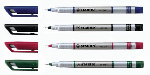 Stabilo Sensor Fineliner Ultra Fine Line Marker Single Pen by Colour