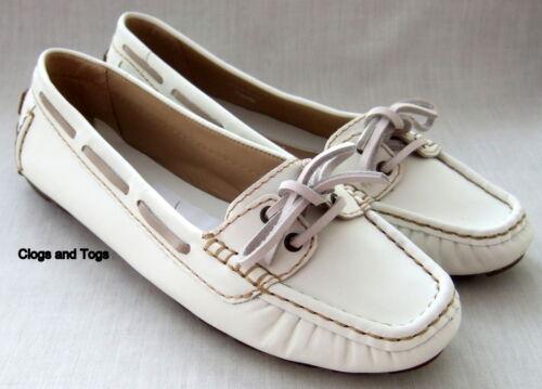 tamaño de Zapatos náuticos South 38 Degree cuero cubierta Clarks mujer con 5 para blanco qwP1an0Rq