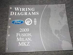 2009 ford fusion mercury milan lincoln mkz electrical wiring diagram rh ebay com 2009 Lincoln MKZ Specs 2013 MKZ