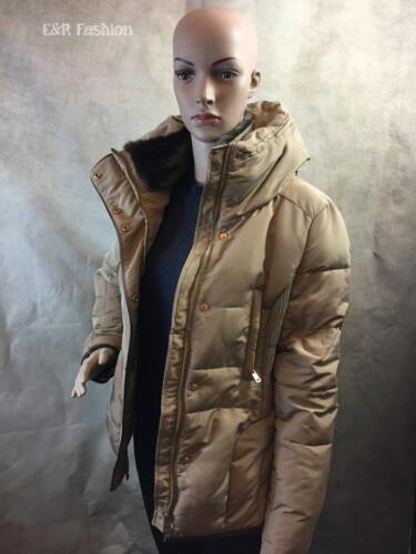 Collar Medium 222 Padded Jacket Ref Size 8073 Fur Zara b24 Faux With PxXqnTffR