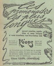 Z8512 Moyeux KEOPS - Pubblicità d'epoca - 1913 Old advertising
