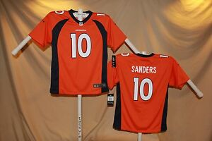 huge selection of 7a0b5 5c52b Details about EMMANUEL SANDERS Denver Broncos NIKE Game JERSEY Youth Small  NWT $70 retail o