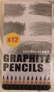 100% De Qualité 12 Artistes Graphite Crayons 5 H - 6b Crayons De Bois-afficher Le Titre D'origine Paquet éLéGant Et Robuste