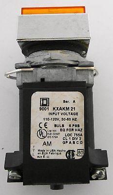 Square D Light Module 9001 KXAKM 21 9001KXAKM21 120 V Volt Ser A Used