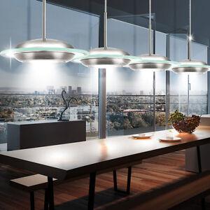 LED-PLAFOND-LUMINAIRE-SUSPENDU-verre-ess-zimmer-Lampe-Rond-spot-lustre-lumiere