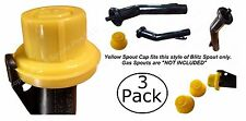 3X BLITZ Yellow Spout Cap fits self-venting gas can spouts #900302 900092 900094