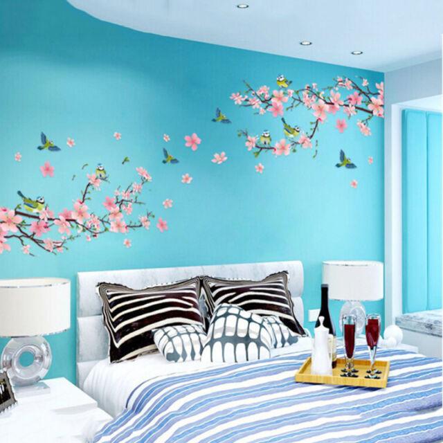Sakura Japanese Pink Cherry Blossom Tree Branch Decor Wall Art