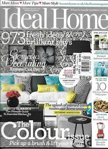 Details about Ideal Home Magazine The Color Issue Beautiful Basics Extreme  Makeover Decorating