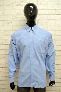KENZO-Uomo-Camicia-Maglia-Taglia-Size-16-5-Polo-Magia-Manica-Lunga-Shirt-Man-Blu