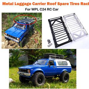 Para-WPL-C24-RC-coche-techo-portador-de-Equipaje-de-Metal-Accesorios-de-actualizacion-de-rack-de