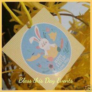 Easter lolly bag tags personalised pack of 30 ideal for image is loading easter lolly bag tags personalised pack of 30 negle Image collections