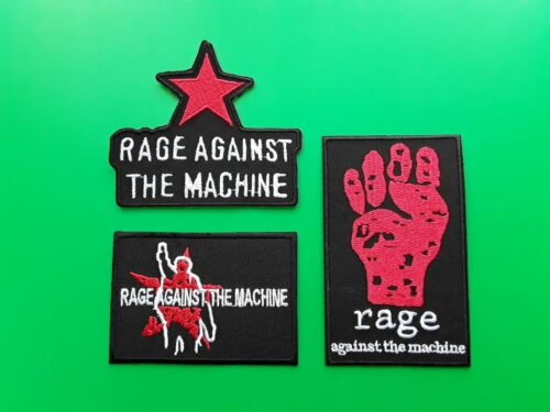 Set of Three Rage Against The Machine Patches Sew On /& Iron On Badges